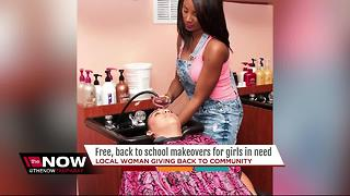 Local woman giving free, back-to-school makeovers to homeless girls - Video