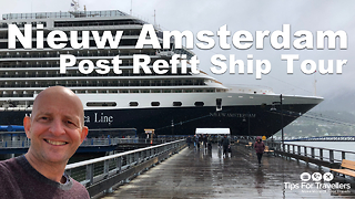 Holland America Nieuw Amsterdam Cruise Ship Tour  - Video
