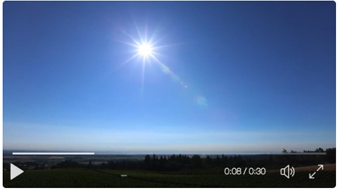 Timelapse Shows Clear View of Solar Eclipse in Oregon's Wine Country