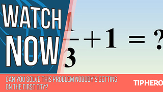 See If You Can Get This Problem Right On The First Try - Video