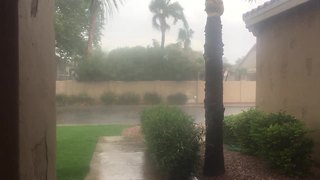 VIDEO: Heavy rain in north Phoenix - Video