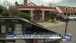 Central 70 project officially begins Saturday with demolition of Colonial Motel - Video