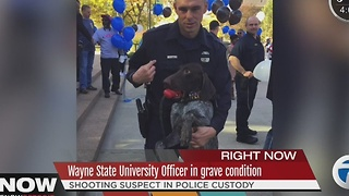 Wayne State University police officer in 'grave' condition, on life support after shooting - Video