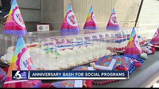 Anniversary bash for social programs - Video