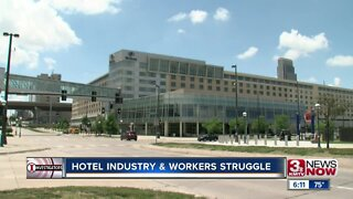 Hotel industry, workers struggle