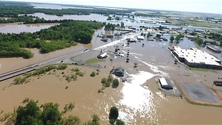 Drone Footage Shows Severe Flooding in Pocahontas From Rising Black River - Video
