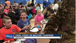 Video goes viral of military homecoming in Appleton