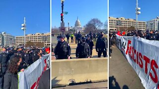Military Occupation in Washington DC - BLM and Antifa Activist Protest Outside U.S. Capitol