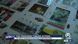 President taking action to help cancer-stricken firefighters - Video