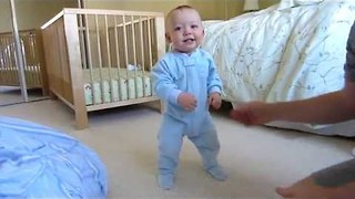 Mom Documents Baby Learning to Walk - Video