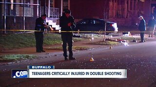 Teenagers critically injured in double shooting