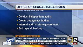 Governor candidate outlines office dealing with sexual harassment in government - Video