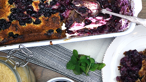 Delicious blueberry cobbler recipe
