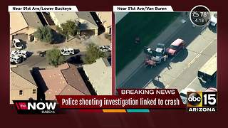 Two people in custody after officer-involved shooting in Phoenix - Video