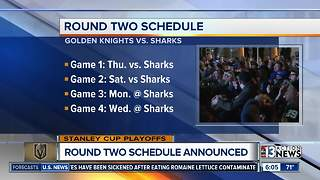 Vegas Golden Knights 2nd round schedule announced - Video