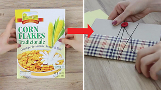 DIY Mini Pocket Notebook from Cereal Box - Video
