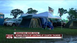 Woman struck by lightning at Country Thunder Music Festival, deputies say