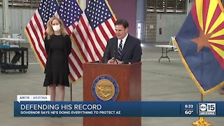 Governor Ducey defends his record