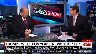 CNN Responds to Trump's 'FAKE NEWS TROPHY' Tweet: 'He Is Assaulting the Free Press' - Video