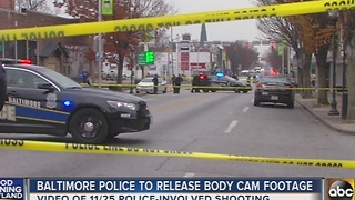 Baltimore Police to release body camera footage in police-involved shooting - Video