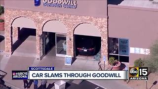Top stories: Car crashes into Goodwill store in Scottsdale; Fountain Hills shooting; Escaped inmate captured - Video