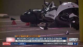 Motorcyclist killed in crash overnight - Video