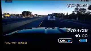Driver Seen Walking Away From Car Crash in Dramatic Dashcam Video - Video
