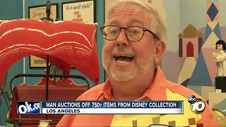 Man auctions off 750+ items from Disney collection