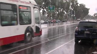 Rain in downtown San Diego - Video