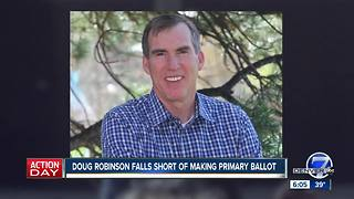 Doug Robinson falls 22 signatures short of making Colo. GOP gubernatorial ballot, plans challenge - Video