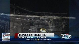Two displaced after duplex catches fire
