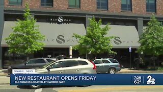 BLK Swan Restaurant opens at Harbor East on Friday