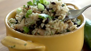One-Pan Chicken with Lime, Rice & Black Beans - Video