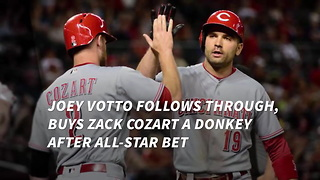 Joey Votto Follows Through, Buys Zack Cozart A Donkey After All-Star Bet - Video
