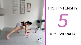 Workout FOLLOW ALONG | 3 Rounds of High Intensity Home Exercises 🙌