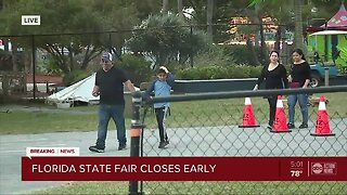 Florida State fair closes early due to severe weather