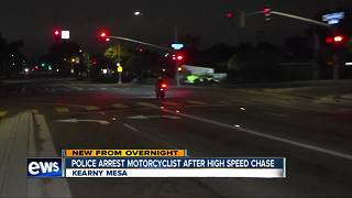 Police chase motorcyclist