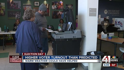 Voter turnout higher than expected in Kansas City