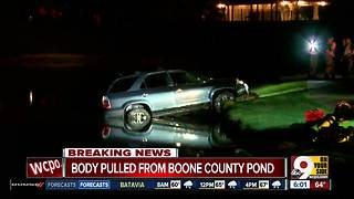 Northern Kentucky man found dead after crashing into pond - Video