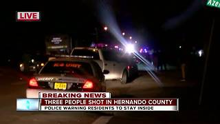 Deputies search for suspect after two people shot in Brooksville - Video