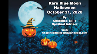 Rare Blue Moon Halloween October 31, 2020