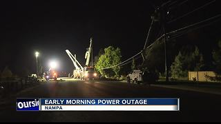 More than 1,000 homes in Nampa without power - Video