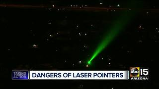 How laser pointers can impact your health and safety - Video