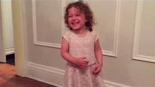 Cute Little Girl Laughs Uncontrollably - Video