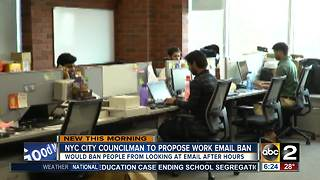 Push to ban checking work email after hours - Video