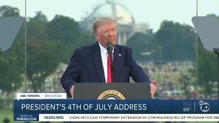 President Trumps addresses July 4 crowd