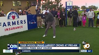 Tiger Woods draws crowd at Pro-Am