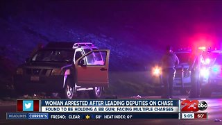 Woman arrested after leading deputies on chase