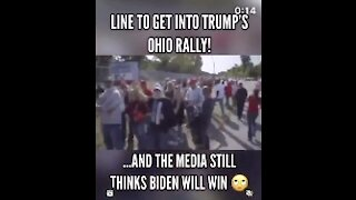 OHIO TRUMP SUPPORTERS LINE UP WITH TRUMP ROCK SONG