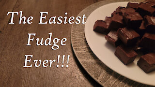 No Fail Chocolate Fudge ~ 3 Simple Ingredients ~ Holiday